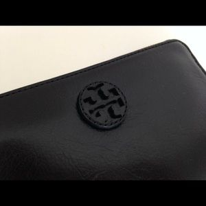 Tory Burch Black Leather Wallet - Authentic!